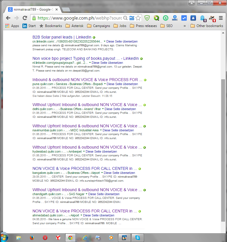 Screenshot Google search result about the offers from Parikshil Nayak