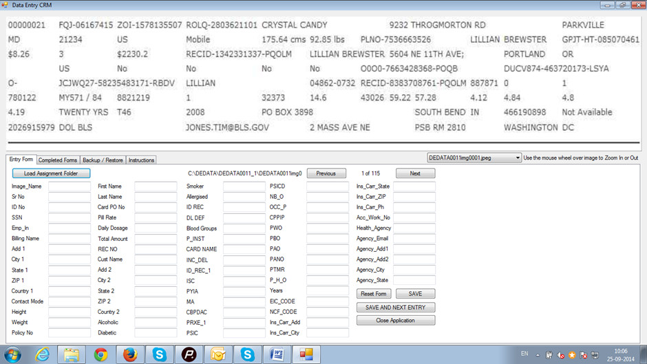 screenshot from mediclaim form filling