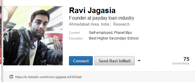 Screenshot from the public LinkedIn profile of Ravi Jagasia