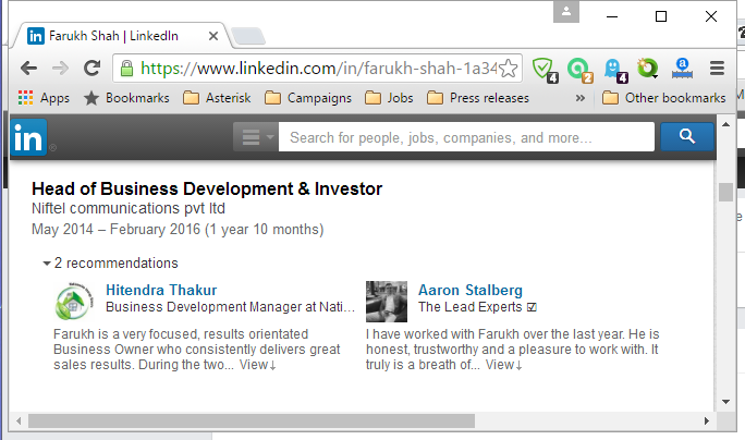Got Farukh Shah got fired from his own company?